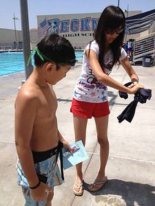 Beckman High Swim camp for chris last day July 31, 2013