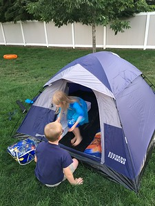 We ended up taking it back and trading up for a Coleman tent - better quality! (This one had a rip by morning...)