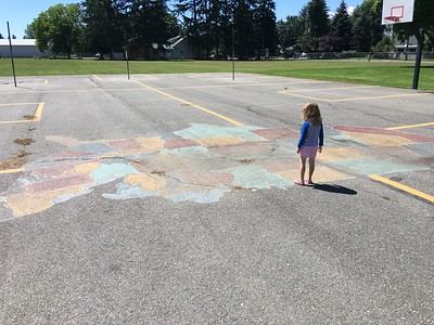 US Map at Dalton Elementary school