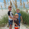 Spencer, Matthew, Bryan Lisek, Clearwater Beach by our condo, 9/13/2013