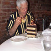 Frank with his 92nd birthday cake, NC, 9/4/2013