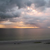 Rainstorms seen from our condo, Clearwater Beach, FL, 8/27/2013