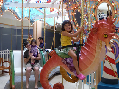 Mayla on the merry-go-round