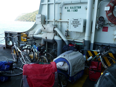 on the ferry to the san juans- my bikes on the side.