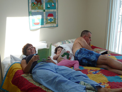 hanging out reading books with grandma and grandpa frame
