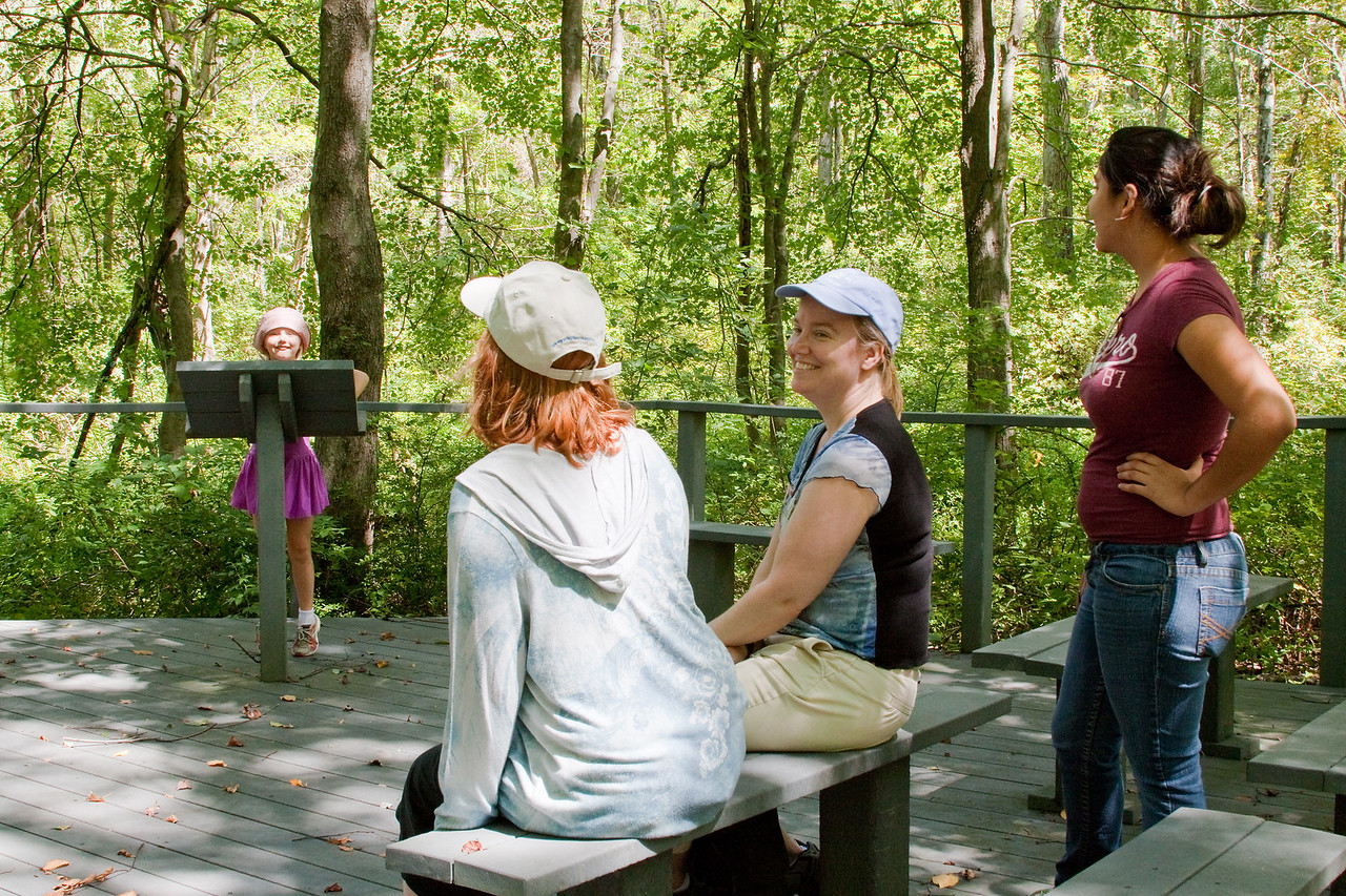 There was an outdoor classroom, and we took turns being the lecturer.