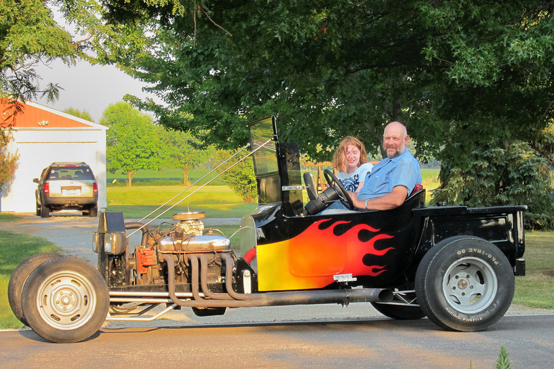 Grandma's neighbor, Jay, has a hot rod and took Chloe for a ride.
