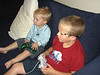 Jaydie and I went to see Dena and her cute kids.  Cooper and Jaydie both have that video game blur look on their faces.