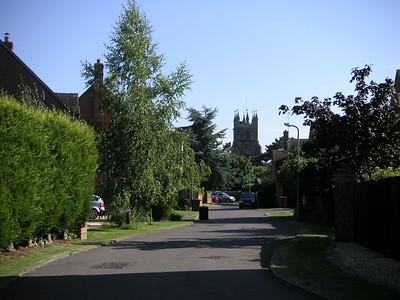 Here's a nice view of the Deddington parish church from The Beeches, Deddington