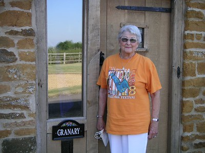 Aunt Blanche, by the front door of The Granary