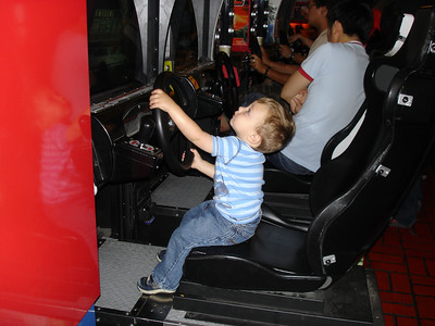 Lincoln plays the demo on this racing game.