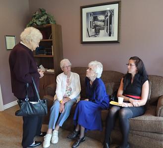 Evangeline Pollett  (Sister),  Eva Stowe (Aunt) , Elsie Hewitt (Sister), Neala Griffin (Great-Niece) August 13, 2015