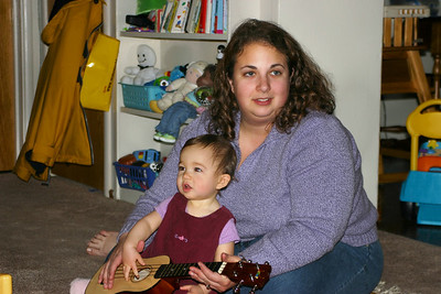 Adelaide and Mommy play the guitar.