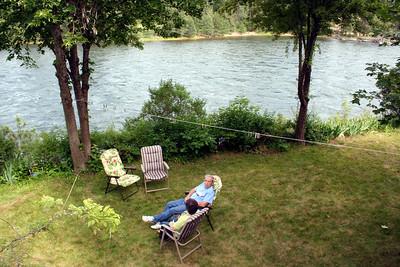 Uncle John & Aunt Claudia enjoying a break by the river
