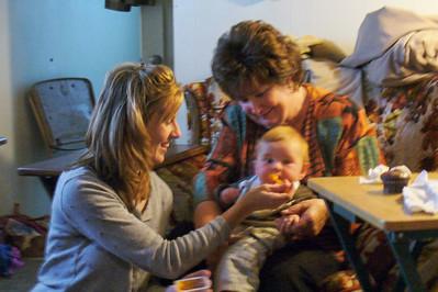 Theresa, Janine, and Theresa's baby Daniel