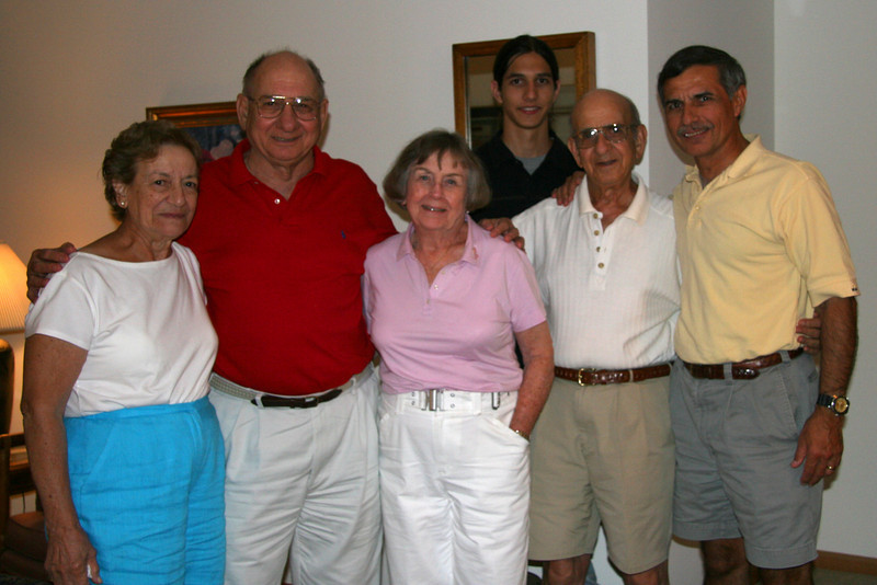 Rose, Ed, Verna, Nick, Toddy and Marty, July 2005 at Ed & Verna's