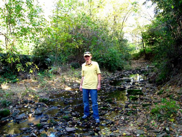 Standing in a Creek