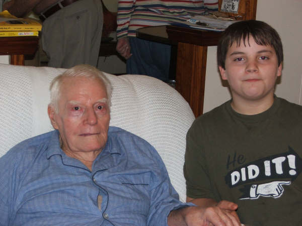 Jake and his Grandfather (Jim's Father) he's 86 years young! Spring 2006