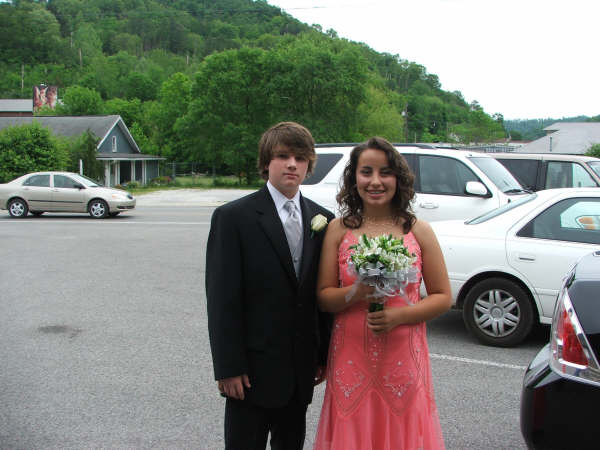 Rachel and her date to the 8th grade prom 2006