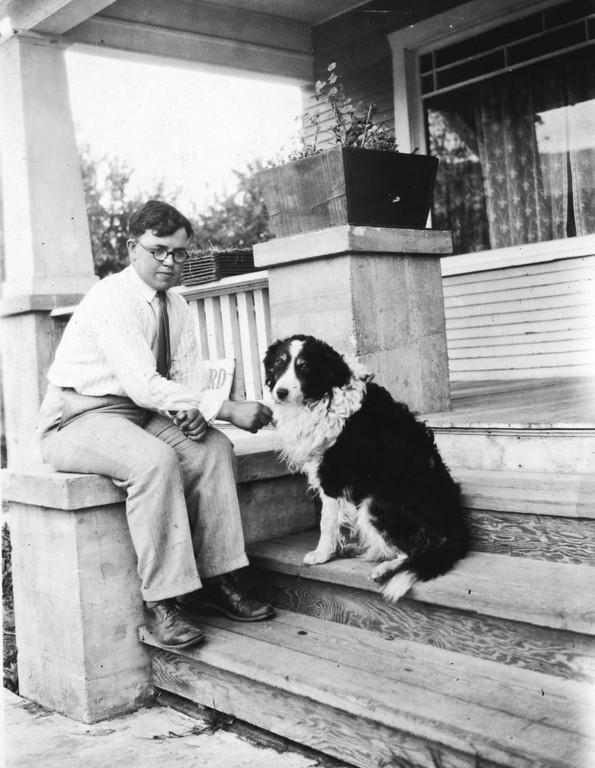 Beth's Brother Roland and Dog named Bounce
