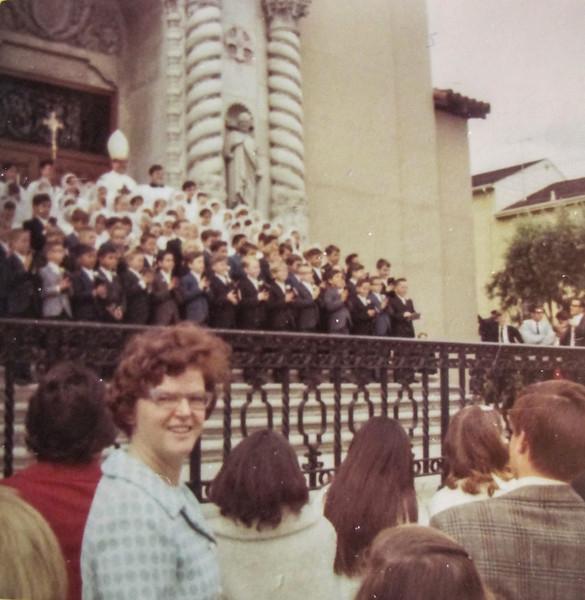 Joanne attending Mark Rudy's First Communion in LA.