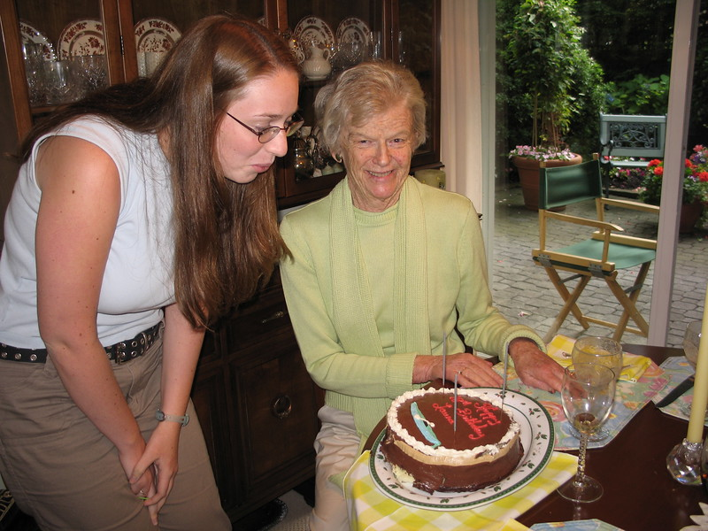 Auntie jo surprised Laura with a birthday celebration.