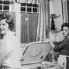 Joanne helping Mary with dishes at Mary and Bill's house on Courtney.<br /> Check out the top loading dishwasher.