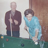 Grandpa and Auntie Joanne came out to Calgary for a visit.  Auntie Joanne showed us a thing or two about Snooker. She was a real pool shark!