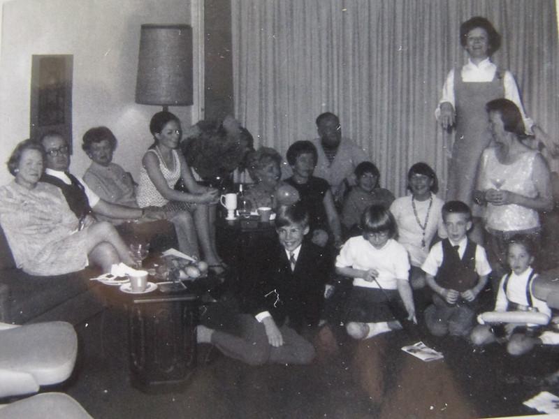 Joanne's surprise 40th Birthday Party<br /> Eileen, Dick, Gen, Sheila, Maureen, Mary, Bill, Martha, Eileen, Joanne, Teeny, Ian, Laura, mark, Stephanie