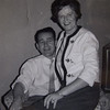 Joanne posing with Mary's brother Jack Harp.