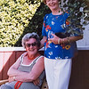 Rosemary Kyle and Joanne on the back deck at Gen's.