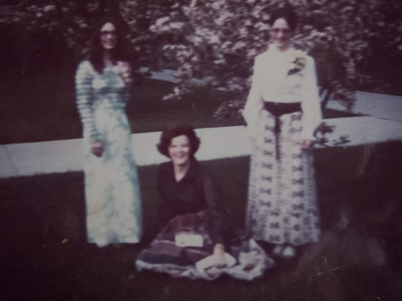 Jo came out to Chatham Ontario for Eileen and Martha's high school graduation in 1972