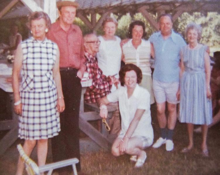 Grandpa with his seven children
