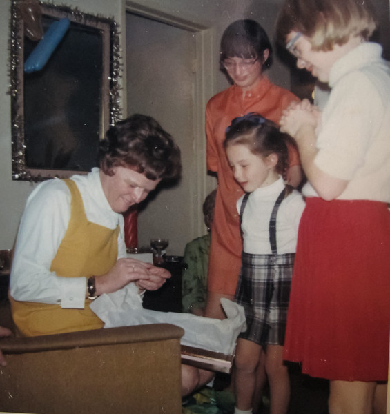Joanne received Grandma's wedding ring for her 40th Birthday 1968.<br /> Joanne, Martha, Stephanie, Laura