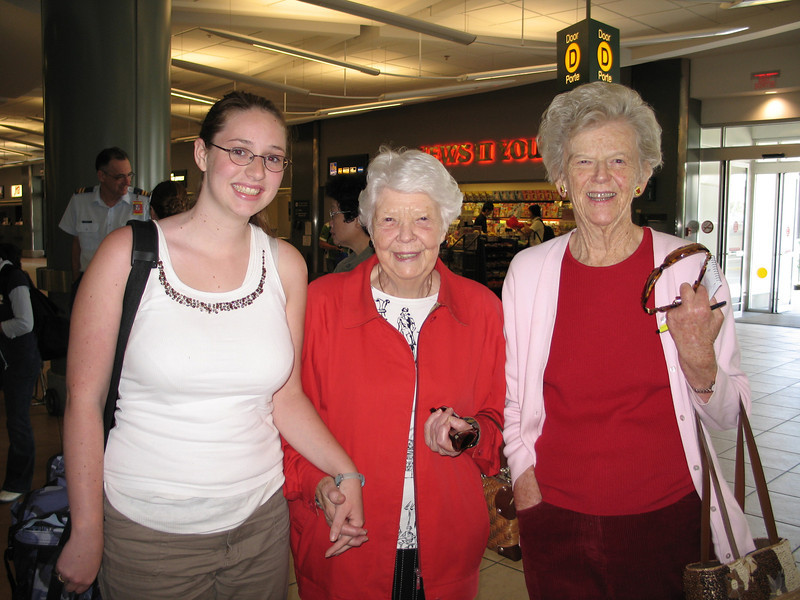 Welcoming committee at the Vancouver International Airport.