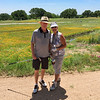 Steve took this pic of Sue and Me at the nice golf course in Kingsland on such a nice day