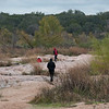 Hiking where Farm Road 307 crosses the Llano River, known locally as The Slab (named after the concrete slab used as a low water crossing)