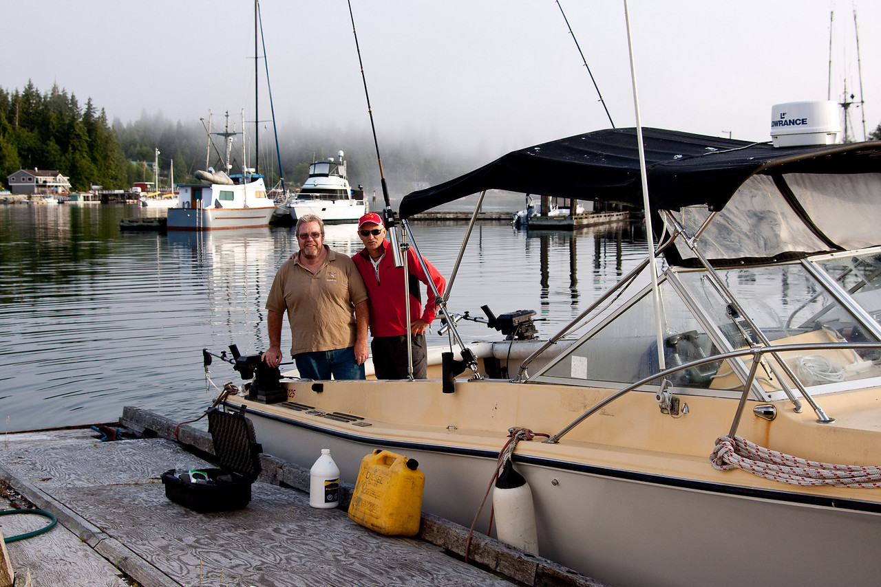 Del and Derek<br /> Fishing and Photo trip to Bamfield BC