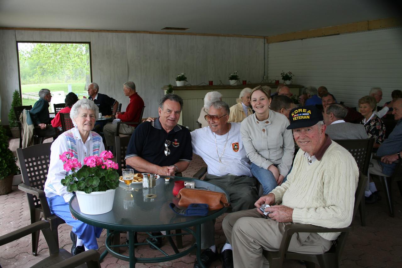 True War Heros<br /> Fellow in white T shirt is Harold 'Hal' Fischer<br /> POW, jet ace, USAF F-86 Sabre pilot<br /> Shot down 10 MiGs over Korea before being captured.