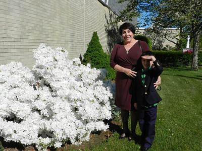 Grandma Tina and Carson before the service