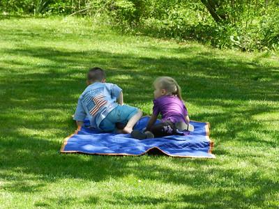 Miller and Rachel Rumph enjoying the wonderful weather