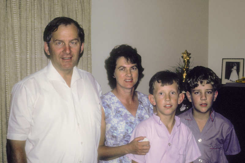 David and Audrey Larsen with sons Glen and John