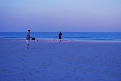 Sat night on beach