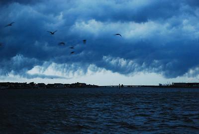 Thunderstorm, looking towards Stone Harbor bridge