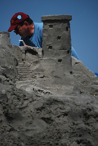 Serious sand castle.