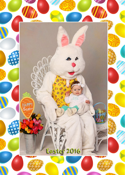 Happy Easter Card Cover With Colourful Eggs