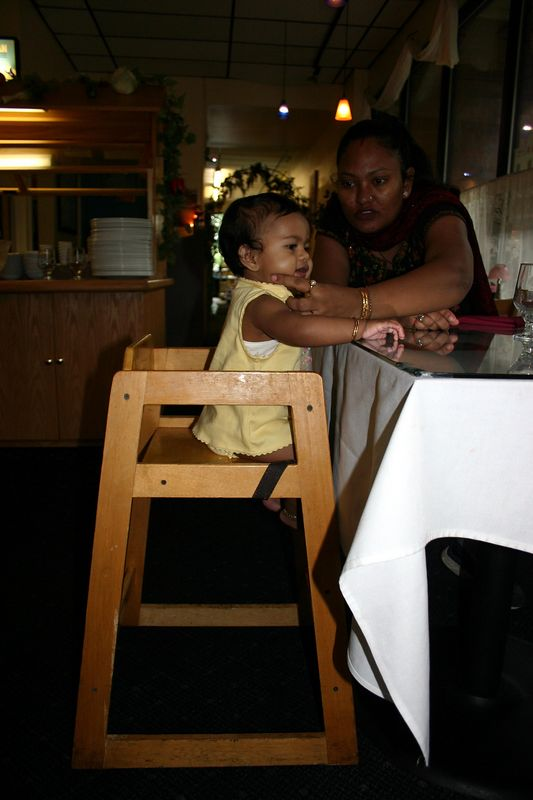 Ayushi in High Chair
