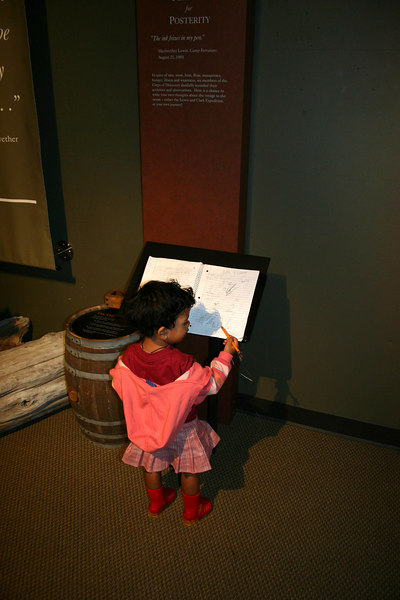 Signing the Guest Book at Lewis and Clark Interpretive Center - Cape Disappointment State Park