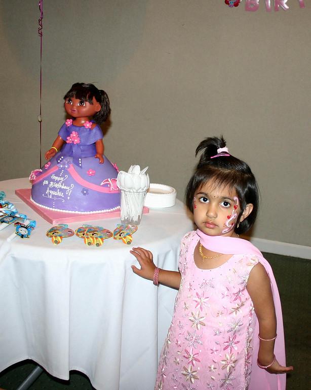 Manasi posing with Dora ...