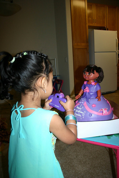 Taking picture of Dora cake form her camera ...